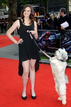 Ashleigh Butler and Pudsey, see more: http://www.styleite.com/media/the-amazing-spider-man-uk-premiere/#