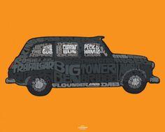 Visit London (Taxi) Mini Poster