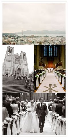 Wedding at Grace Cathedral |  www.gracecathedral.org/weddings.