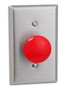 ThinkGeek :: Panic Button Light Switch Replacement Kit