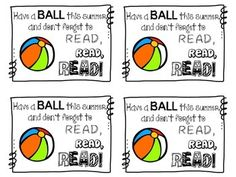 FREEBIE: Have a BALL this summer!  End of Year Gift Idea for students:  Give each of your kiddos a beach ball and a list of sight words to review over the summer!