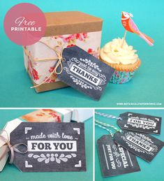 How cute are these! We're loving these Free Chalkboard Gift Tags from Botanical PaperWorks!