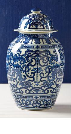 blue white vase urn jar arrangement on pinterest ginger. Black Bedroom Furniture Sets. Home Design Ideas