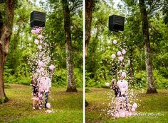 Gender Reveal Party, hmm how to make this work in my backyard....