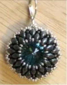 Beaded earring tutorial how to bezel a Rivoli using Superduo beads  Beading Tutorial
