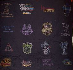 Harry Potter Custom Embroidered Lap Quilt