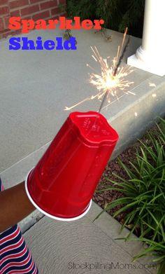 Sparkler Shield #diy #july4th #patriotic
