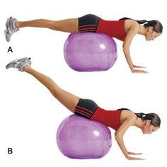 Get Flatter Abs -- Get abs with this exercise ball workout plan