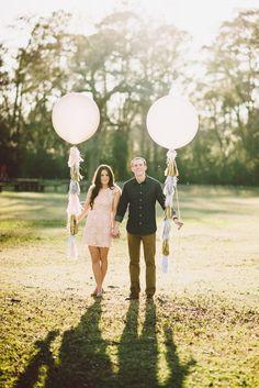Fringe Balloon Tassel: Tissue paper tassel for giant balloon photo prop. on Etsy, $45.00