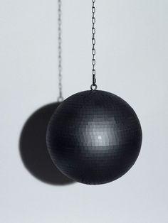black disco ball
