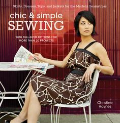 Chic & Simple Sewing. No more spending more than you can afford on clothes! This book shows you how to make modern, stylish and fun clothes you will want to tear every day. #sewing $23.38