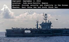 While patrolling the 7th Fleet area of operations, USS George Washington will provide security and stability in the Korean theater, the East China Sea and South China Sea. #USSGW #AircraftCarrier #USNavy