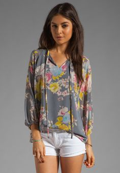 MM COUTURE BY MISS ME  3/4 Sleeve Printed Top