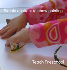 Simple abstract rainbow painting