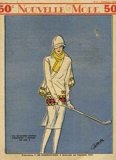 ladi golfer, magazine covers, vintag golf, dresses, fashion print