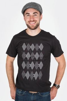 Argyle Fighters t-shirt by Ian Leino - WARNING: wearing one of these may make you cocky, kid. $20