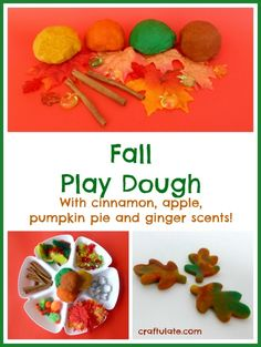 Fall Play Dough Fun from Craftulate
