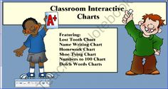 Interactive Classroom Charts from SensibleSubstitute on TeachersNotebook.com -  (8 pages)  - This contains several useful charts to be used on the SMARTBoard.  They are focused on the primary grades, Pre-K to Third Grade.