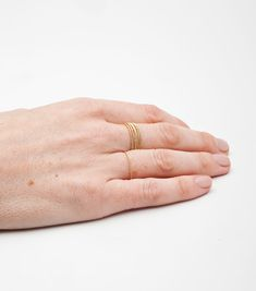 C A T B I R D Gold Twisted Stacker Ring