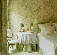 Green bedroom. I love.