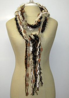 Safari braids Gypsy Fringe Scarf skinny by PurpleSageDesignz, $ 17.00