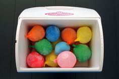 Use frozen water balloons instead of ice to keep your cooler cold!