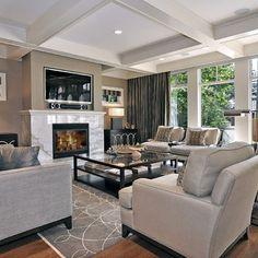 interior design, living rooms, fireplac, color schemes, famili, living room ideas, family rooms, living room designs, live room