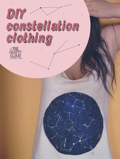 the crafty cloud ☁ - DIY constellation clothing!