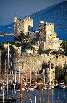 Crusader castle in Bodrum harbor, Turkey