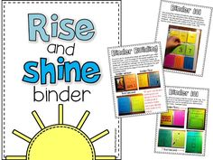 Back To School--morning binder