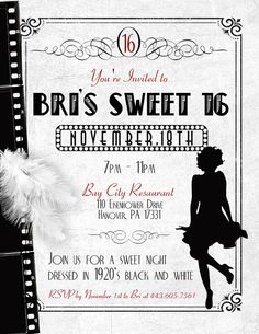 Old Hollywood invite