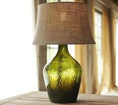 Clift Glass Table Lamp Base - Green #potterybarn