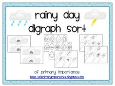 Students will sort raindrops and lightening bolts by beginning and ending digraphs, matching them with the correct digraph cloud.Included in th...