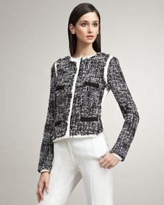 Tweed-front Jacket