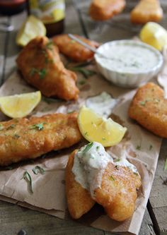 Rosemary Cornmeal Beer Battered Fish with tangy yogurt remoulade.