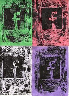 Pop Art prints - 6th grade Art