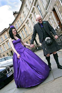 Purple wedding dress YES.
