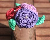 Crocheted Flower Pot, office or home decoration