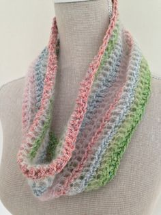 Crocheted with a mix of cotton and delicate kid mohair - it's lush!
