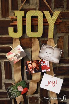 easy #DIY hanging card #display for your #holiday greetings on www.CherylStyle.com