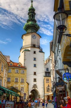 Michael's Gate in old town of Bratislava, Slovakia