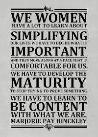 Simplify - Marjorie Hinckley