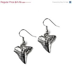 On Sale Now Shark Teeth Earrings - Accessories - Women's Jewelry - Gift Idea - Handmade - Gift Box Included