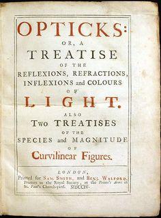 Opticks (Isaac Newton, 1704)