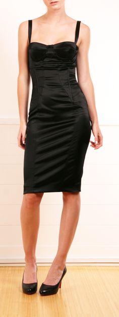 Dolce & Gabbana Black Bustier Dress