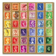 Collections Greeting Card Postage Stamps