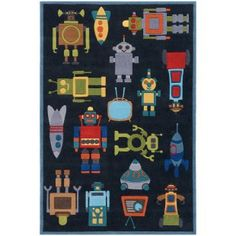 Lil' Momeni Whimsy Outer Space Collection Kids Area Rug