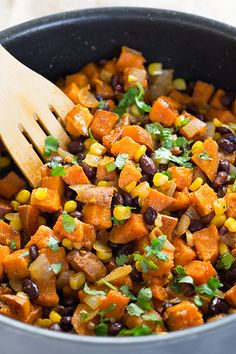 Honey-Lime Sweet Potato Black Bean Corn Tacos