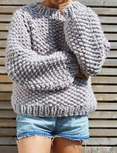 The Seed Bubble Sweater is the perfect big knit to wear when the temperature drops. Constructed seamlessly to reduce as much bulk as possible, this is a fun pattern to challenge your knitting skills.