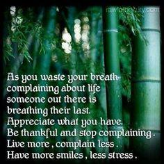 Quit complaining!